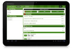Unibet Mobile Tablet