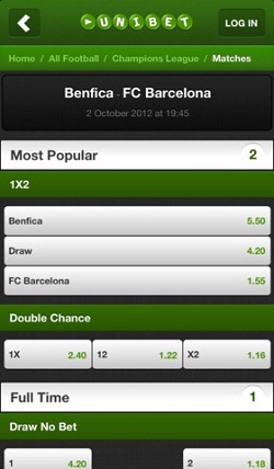 Unibet iPhone app