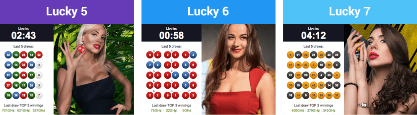 Betway Lucky 5, Lucky 6 and Lucky 7 games
