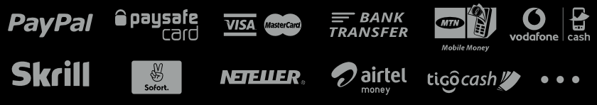 Payment methods in Mybet